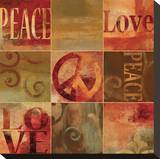 Peace Sign Stretched Canvas Print by Luke Wilson