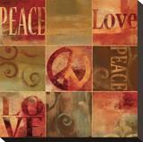Peace Sign Pingotettu canvasvedos tekijänä Luke Wilson