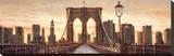 Manhattan Evening Stretched Canvas Print by Matthew Daniels