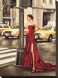 Woman in New York Stretched Canvas Print by Edoardo Rovere