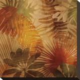 Sunlit Palms II Opspændt lærredstryk af John Seba