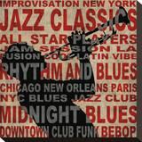 Jazz I Stretched Canvas Print by Luke Wilson
