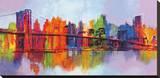 Abstrakt Manhattan Opspændt lærredstryk af Brian Carter