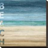 Beach Stretched Canvas Print by Luke Wilson