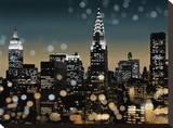 New York I Opspændt lærredstryk af Kate Carrigan