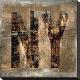 NY Revealed Stretched Canvas Print by Luke Wilson
