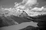 Banff Peyto Lake in Canadian Rockies Black White Photo Print Poster Poster