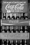 Vintage Coca Cola Bottle Cases Black White Photo Poster Pósters