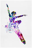 Flying Ballerina Watercolor 1 Posters af Irina March