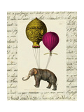 Elephant Ride II v.2 Poster by Sue Schlabach