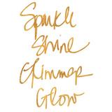 Sparkle, Shine, Glimmer, Glow (gold foil) Kunst
