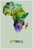 Africa Color Splatter Map Pôsters por  NaxArt