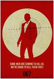 James Poster Red 3 Posters van Anna Malkin