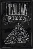 Chalk Pizza Poster tekijänä  bioraven