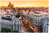 Panoramic View Of Gran Via, Madrid, Spain Posters par  kasto