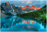 Moraine Lake Sunrise Colorful Landscape Pósters por  JamesWheeler