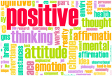 Thinking Positive As An Attitude Abstract Concept Pósters por  kentoh