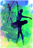 Two Dancing Ballerinas Watercolor 3 Posters van Irina March