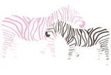 Pink Zebra Poster par  Avalisa