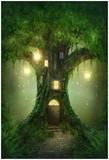 Fantasy Tree House Kunstdruck von  egal
