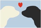 Blue Puppy Love Posters av  Avalisa