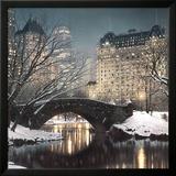 Schemering in Central Park Poster van Rod Chase