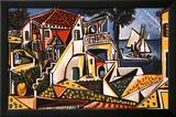 Mediterrane Landschaft Kunst von Pablo Picasso