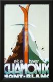Kesä, talvi, Chamonix, Mont Blanc, ranskaksi Posters tekijänä Henry Reb