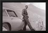 James Bond met Aston Martin Poster