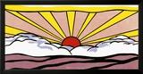 Auringonnousu, n. 1965 Juliste tekijänä Roy Lichtenstein