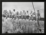 Lunch uppe på en skyskrapa, ca 1932 Konst av Charles C. Ebbets