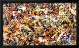 Sammanstrålande Konst av Jackson Pollock