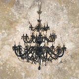 Onyx Chandelier Posters by Marta Wiley