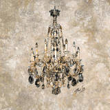 Champagne Chandelier Prints by Marta Wiley