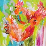 You Ruffle My Feathers Poster von Amanda J. Brooks