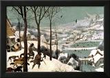 Jäger im Schnee, Februar, 1565 Gerahmter Giclée-Druck von Pieter Bruegel the Elder