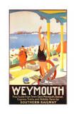 1930s UK Southern Railway Poster Stampa giclée