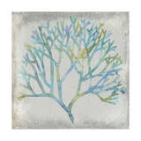 Watercolor Coral II Metal Print by Megan Meagher