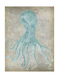 Spa Octopus II Posters af Jennifer Goldberger