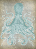 Spa Octopus I Art by Jennifer Goldberger