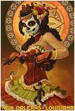 Dia De Los Muertos Marionettes - New Orleans, Louisiana Prints
