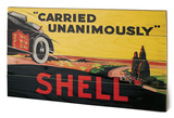 Shell - Carried Unanimously, 1923 Wood Sign