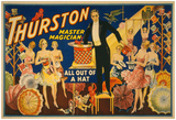"""Thurston, Master Magician """"Out Of A Hat"""" Magic Poster Posters"""