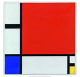 Composition with Red, Blue and Yellow, 1930 Art by Piet Mondrian