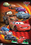 Cars 2 Group Movie Poster アートポスター