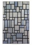Composition with Grid 2, 1915 Plakat af Piet Mondrian