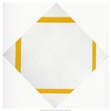 Lozange Composition with Four Yellow Lines, 1933 Affiches par Piet Mondrian