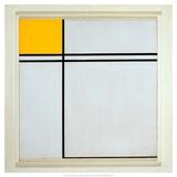 Composition with Yellow and Double Line, 1932 Art par Piet Mondrian