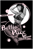 Bettie Page Girlie Revue Pin-Up Plakat