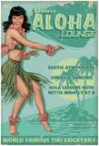Bettie Page Aloha Lounge Poster